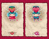 Valentine's Day  paper backgrounds