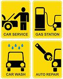 Car service, fuel station, auto repair
