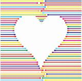 heart made from color lines, vector illustration