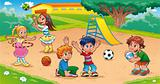 Kids in the playground.