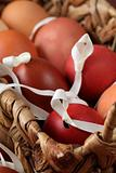 Red and brown egg shells