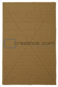 Torn Piece of Ribbed Cardboard