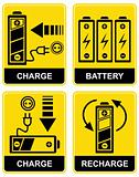 Battery charge - vector sign