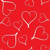 Valentine's day abstract seamless background with hearts