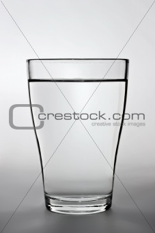 close up shot of a full water glass