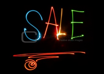 Advertising about the sale.