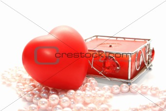 Valentine heart and candle