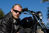 Man With Motorcycle