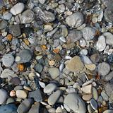 pebbles and stone in the sea water