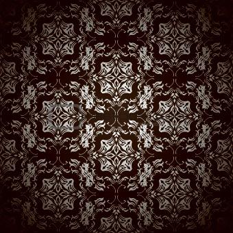 black floral repeat