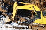 loader excavator in open cast