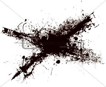 cross grunge splat