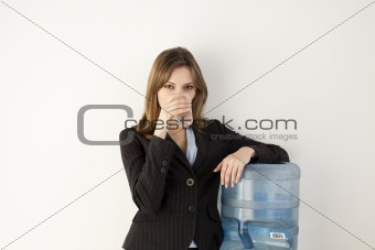 Office Worker at Water Cooler