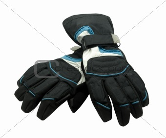 Pair of ski gloves