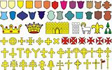 Elements of the heraldic emblem