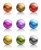 dark round web buttons