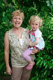Grandmother and grandchild.