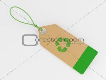cardboard recycling label
