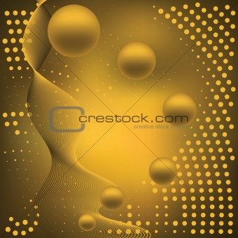 Abstract elegance background with balls