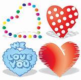 Set of valentine`s hearts, part 8,