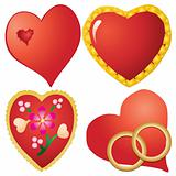 Set of valentine`s hearts, part 10