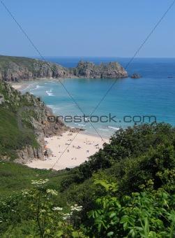 Beach and bay, Cornwall, England