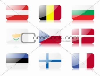 European union flags set 1