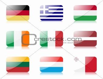 European union flags set 2