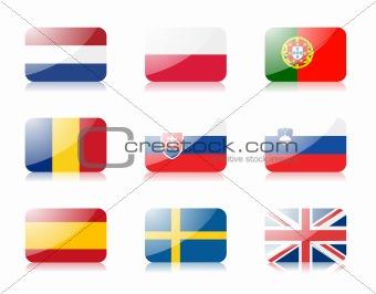 European union flags set 3