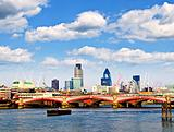 Blackfriars Bridge with London skyline