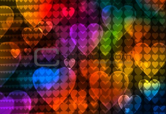 abstract colour heart background