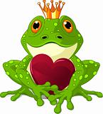 Frog with heart