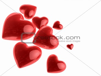 beautiful valentine`s hearts