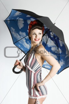 Pinup woman - retro style