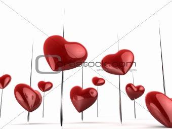 beautiful valentine`s hearts