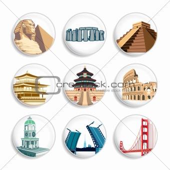 Travel destination badges | Set 2