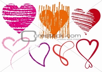 heart scribbles, vector