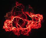 Abstract warm flame background