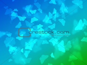 Abstract nature wallpaper with bokeh butterfly