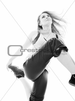 woman fitness isolated