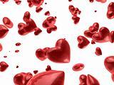 red valentine`s hearts