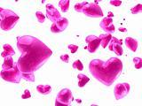 pink valentine`s hearts