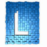 cubes makes the letter l