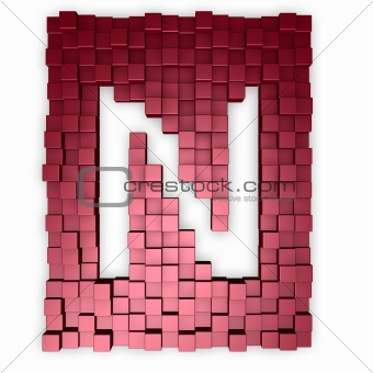 cubes makes the letter n