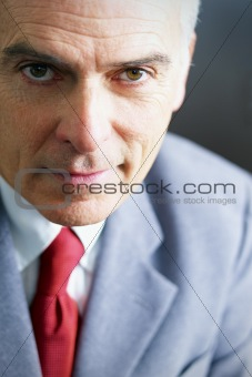 mature businessman looking at camera