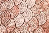 brown pattern tiles