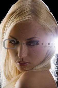 blond on black