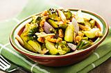 Roasted brussels sprouts dish