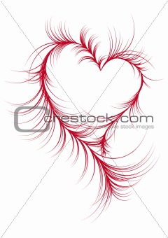 abstract heart, vector