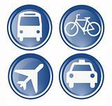 four travel icons